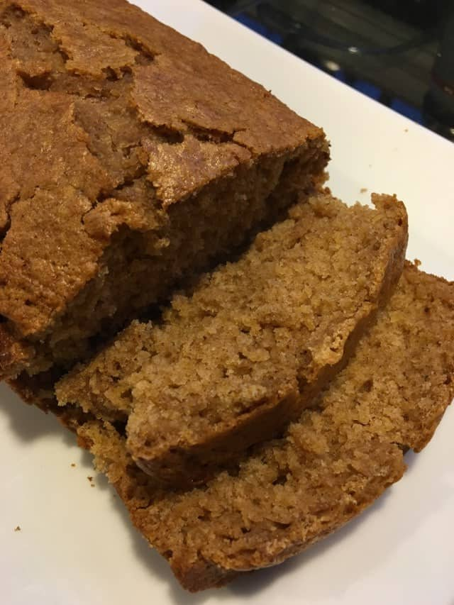Vegan Oil Free Spicy Pumpkin Bread... Pumpkin Spice Goodness!