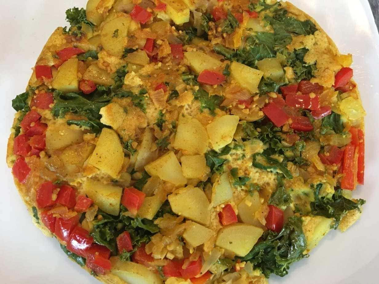 Vegan Potato and Kale Frittata