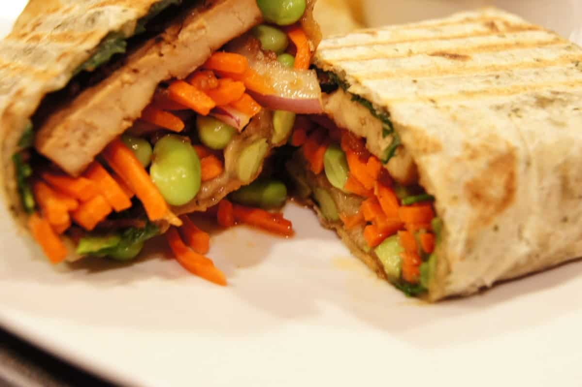 Grilled Teriyaki Tofu Panini Wrap | Kathy's Vegan Kitchen