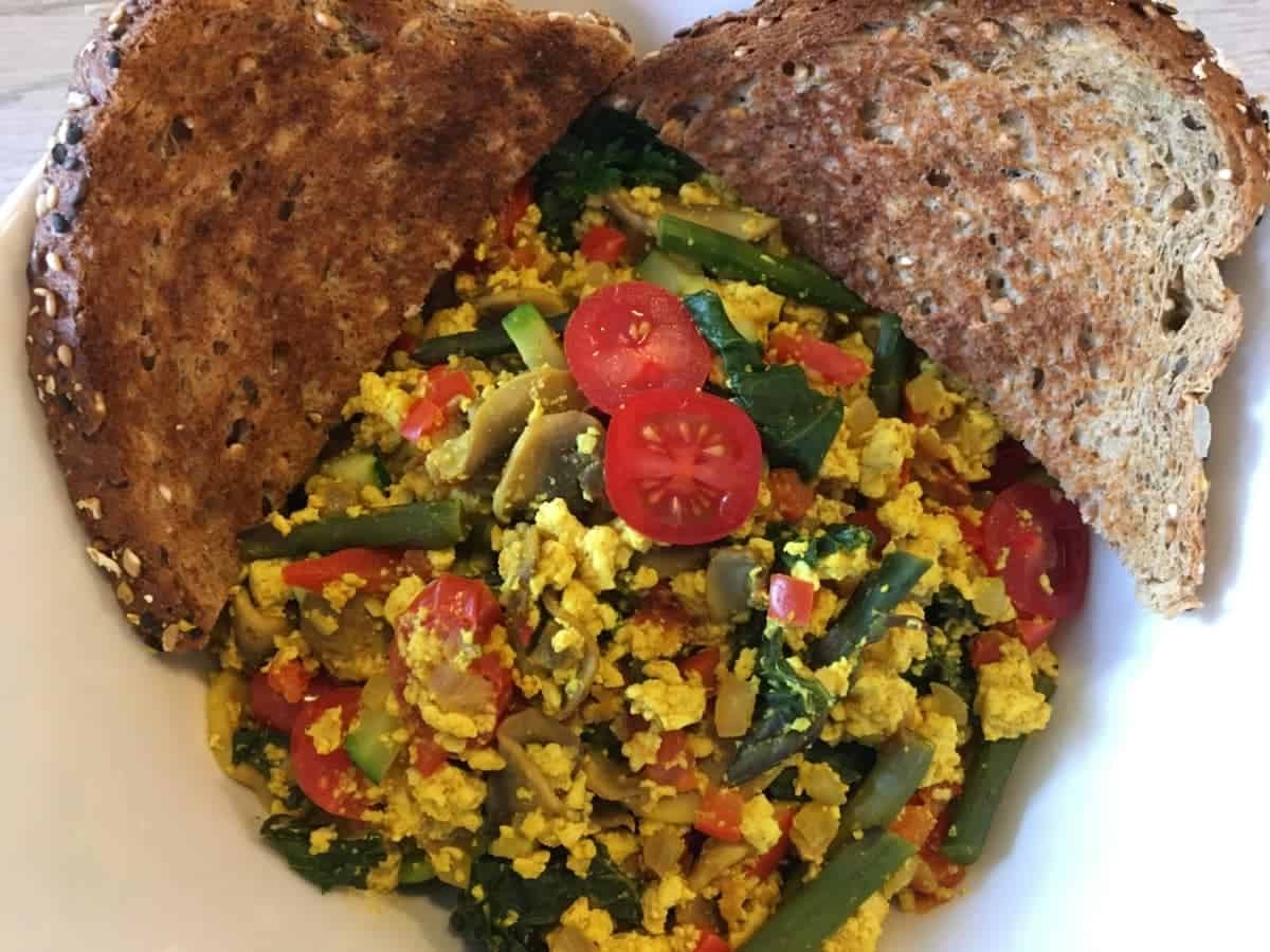 Rustic Curry Tofu Scramble