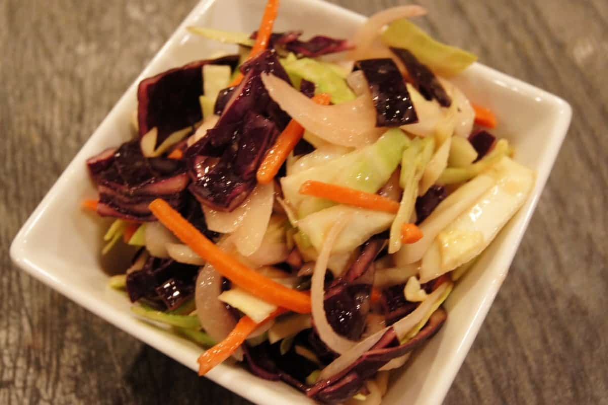 Simple Oil-Free Maple Dijon Slaw