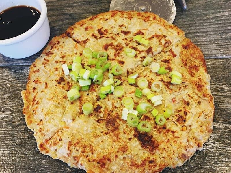 Vegan Oil-Free Kimchi Pancake