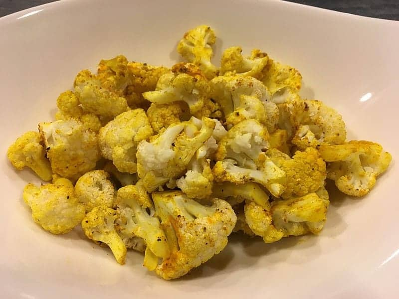Curry Lime Roasted Cauliflower