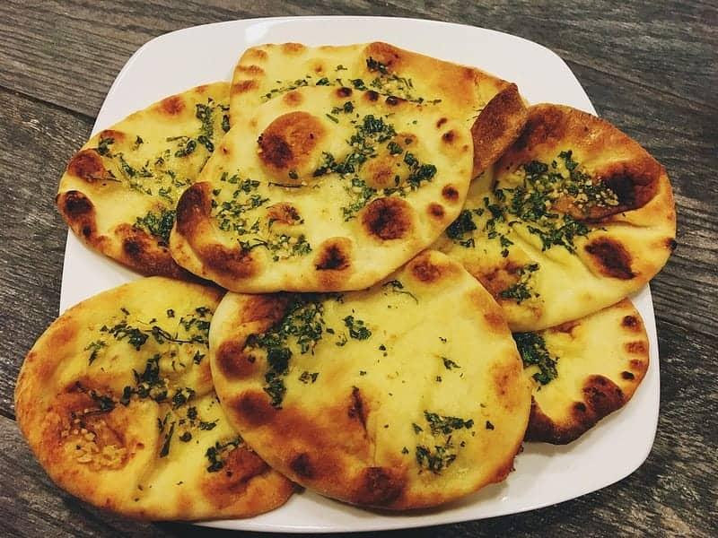 Oil-Free Vegan Garlic Cilantro Naan