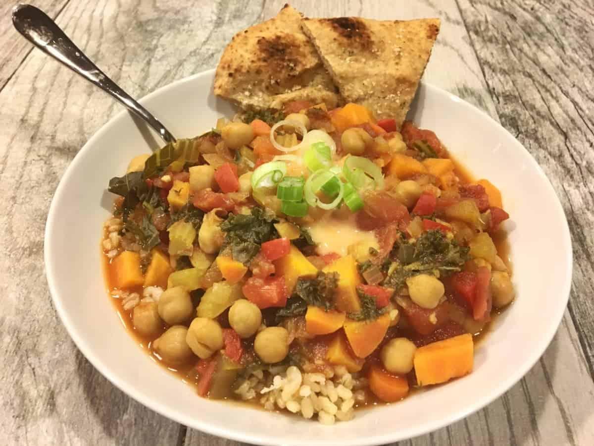 Moroccan Vegan Chickpea Vegetable Stew