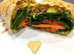 33058150643_375d85929e_o-2-300x225 Spicy Vegan Lentil Wrap with Baja Sauce