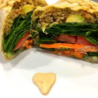 Vegan Spicy Vegan Lentil Wrap with Baja Sauce