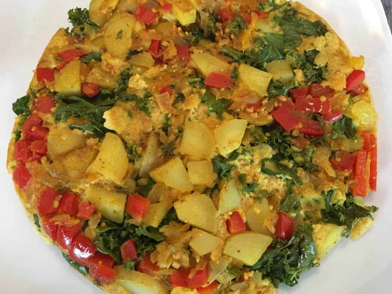 Vegan Kale and Potato Frittata