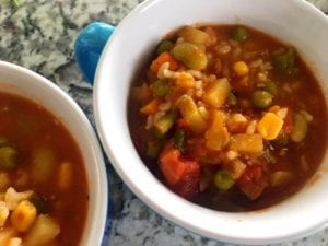 31191012848_0f6d28ce30_o-300x225 Quick and Easy Crockpot Veggie Soup with Brown Rice