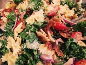 """45087358991_002e709d67_o-300x225 Vegan """"BLT"""" Pasta Salad"""