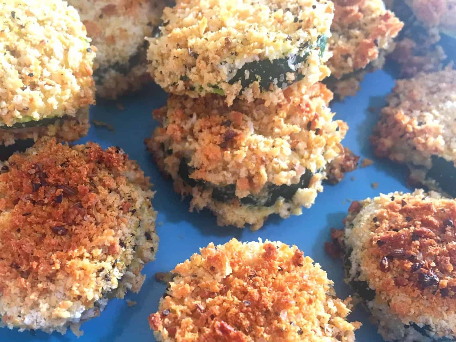 Crunchy Baked Zucchini Coins