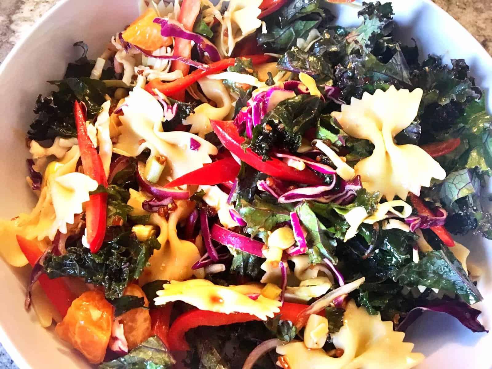 Kale Asian Pasta Salad